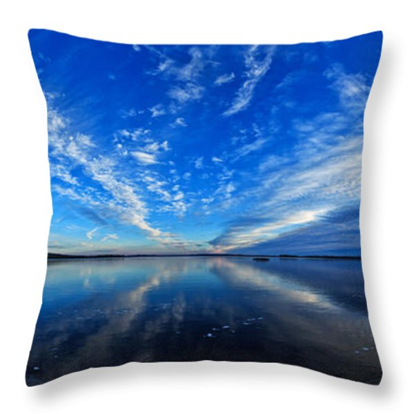 Meddybemps Blues 2 Panorama Throw Pillow by Bill Caldwell -        ABeautifulSky Photography