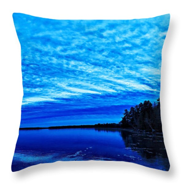 Meddybemps Blues 3 Throw Pillow by Bill Caldwell -        ABeautifulSky Photography