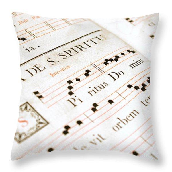 Mediavel chorus book  Throw Pillow by Fabrizio Troiani