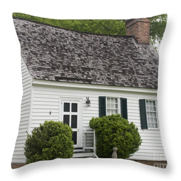 Medical Shop Yorktown Throw Pillow by Teresa Mucha