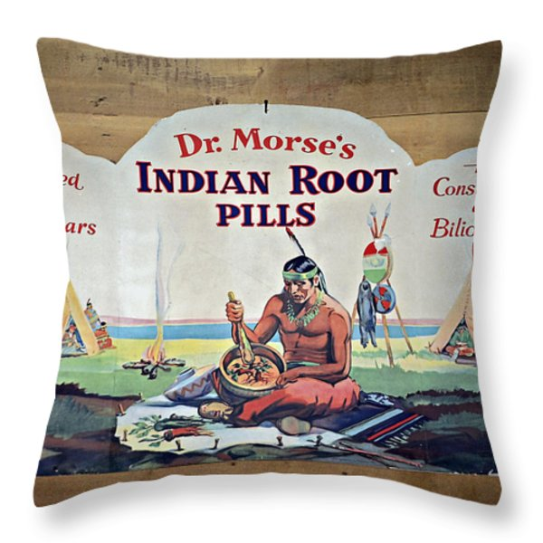 Medicine Man Throw Pillow by Susan Leggett