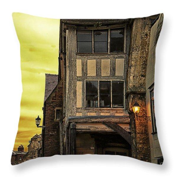 Medieval Alley Throw Pillow by Gabriela Wernicke-Marfo