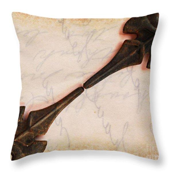 Fleur-de-Lis Throw Pillow by Clare Bevan