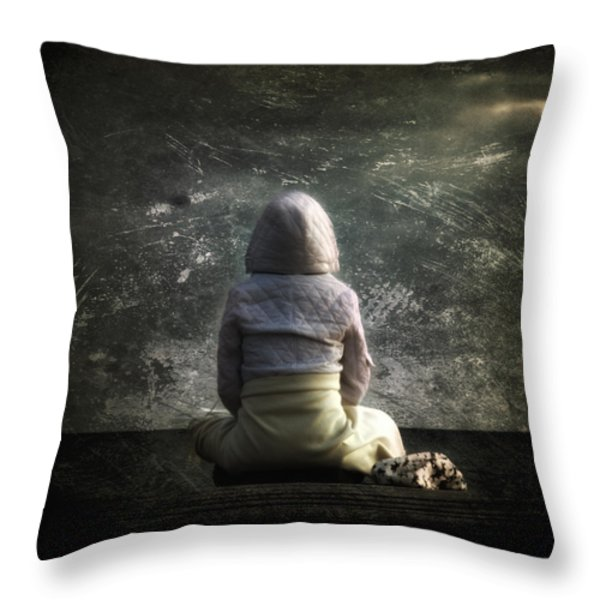 meditation Throw Pillow by Stylianos Kleanthous