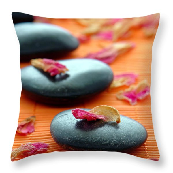 Meditation Zen Path Throw Pillow by Olivier Le Queinec