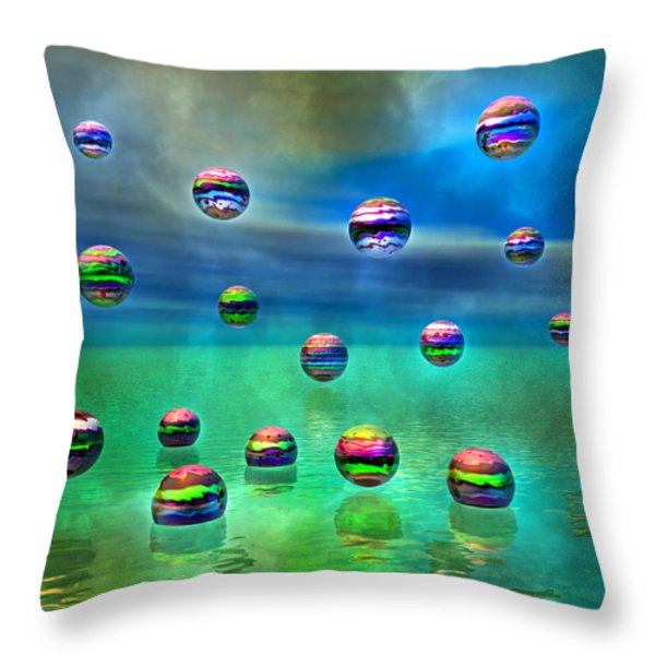 Meditative Pool Throw Pillow by Betsy A  Cutler