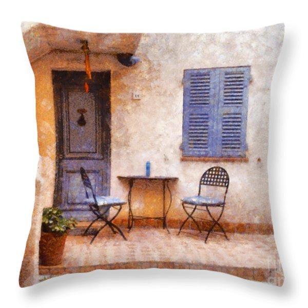 Mediterranean House Throw Pillow by Pixel  Chimp