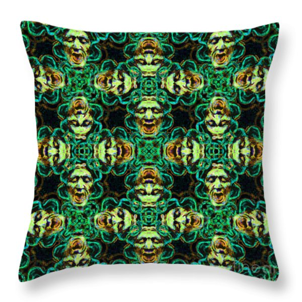 Medusa Abstract 20130131p38 Throw Pillow by Wingsdomain Art and Photography