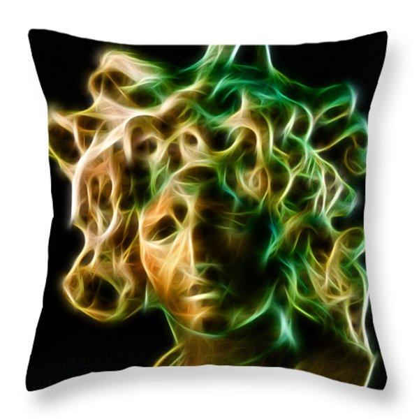 Medusa Throw Pillow by Taylan Soyturk