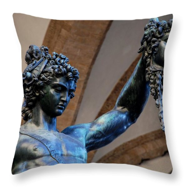 Medusa's Head Throw Pillow by Dany Lison