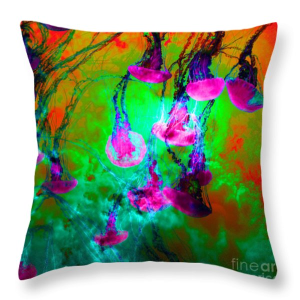 Medusas On Fire 5D24939 square p128 Throw Pillow by Wingsdomain Art and Photography