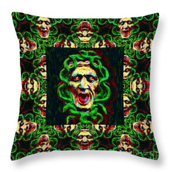 Medusa's Window 20130131p0 Throw Pillow by Wingsdomain Art and Photography