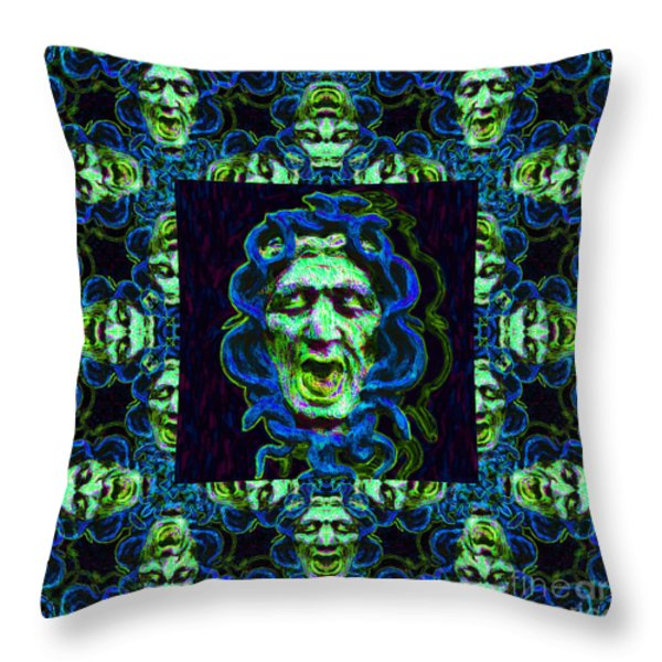 Medusa's Window 20130131p90 Throw Pillow by Wingsdomain Art and Photography