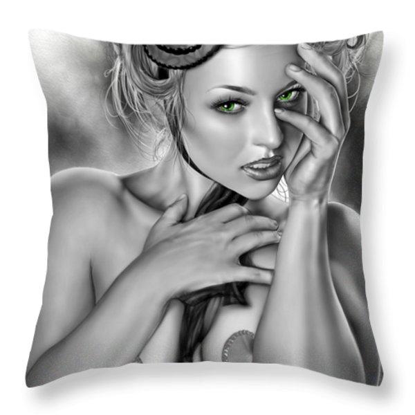 Megan Throw Pillow by Pete Tapang