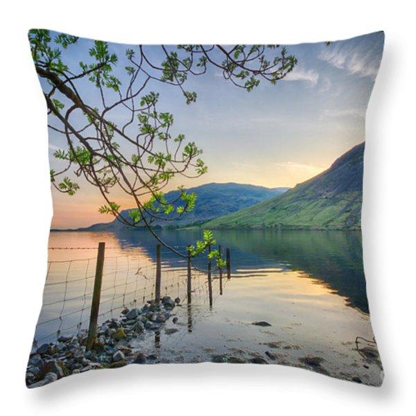 Melancholy Of Sunset Throw Pillow by Evelina Kremsdorf