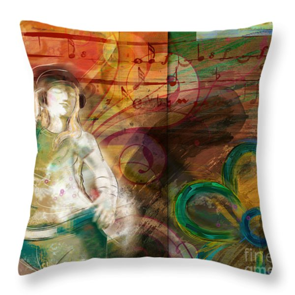 Melody Throw Pillow by Bedros Awak