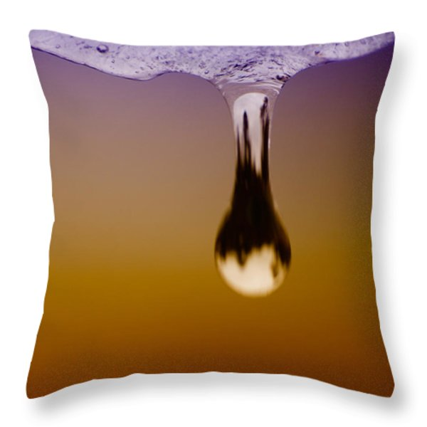 Melt One Throw Pillow by Bob Orsillo