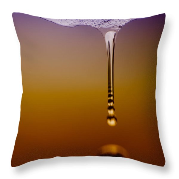 Melt Three Throw Pillow by Bob Orsillo