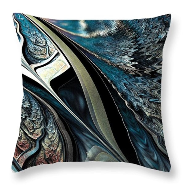 Melting Point Throw Pillow by Anastasiya Malakhova