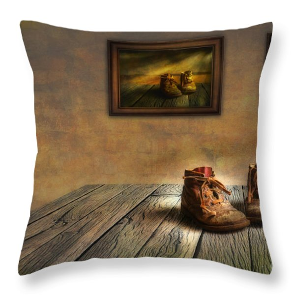 Mementos Exhibition Throw Pillow by Veikko Suikkanen