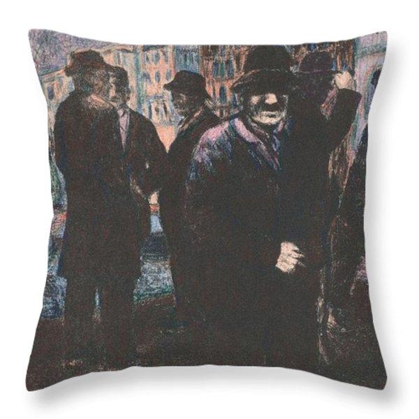 Men Throw Pillow by Kendall Kessler