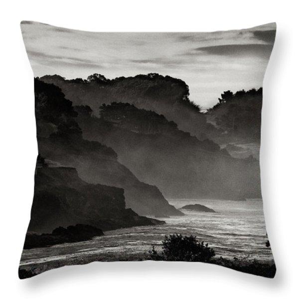 Mendocino Coastline Throw Pillow by Robert Woodward