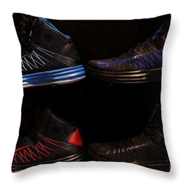 Men's Sports Shoes - 5D20654 Throw Pillow by Wingsdomain Art and Photography