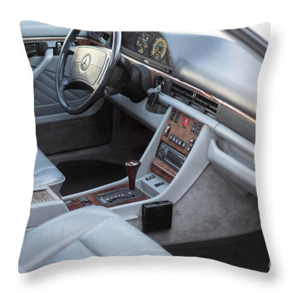 Mercedes 560 Sec Interior Throw Pillow by Gunter Nezhoda