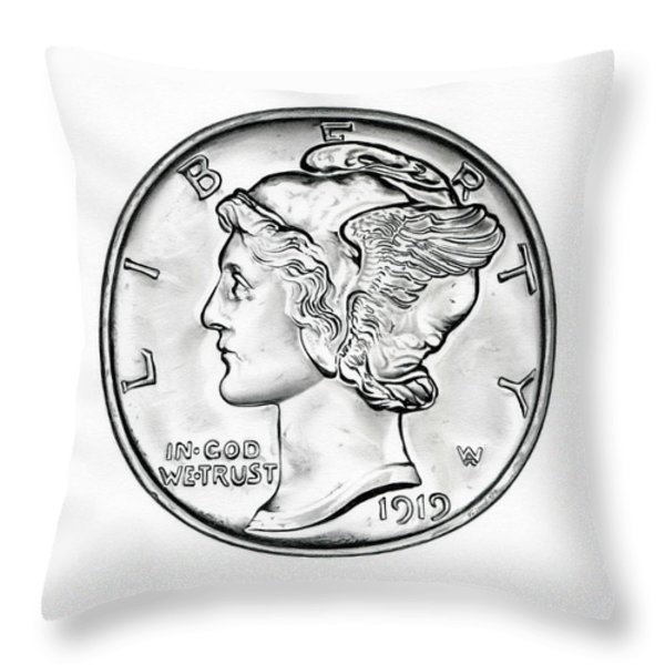 Mercury Throw Pillow by Fred Larucci