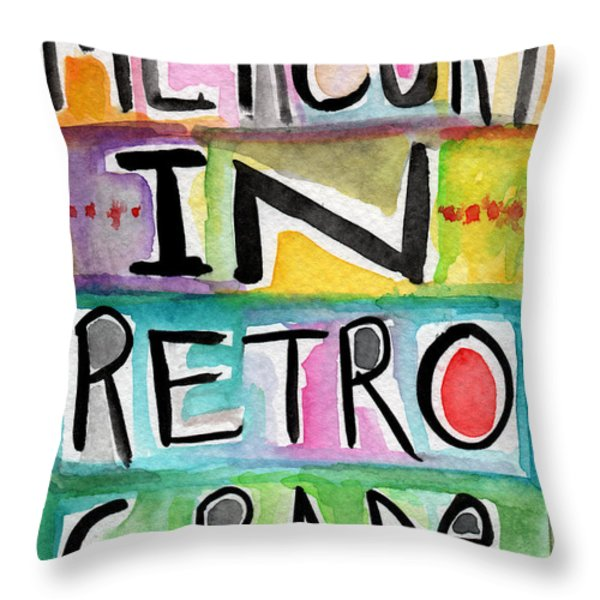 Mercury In Retrograde Throw Pillow by Linda Woods