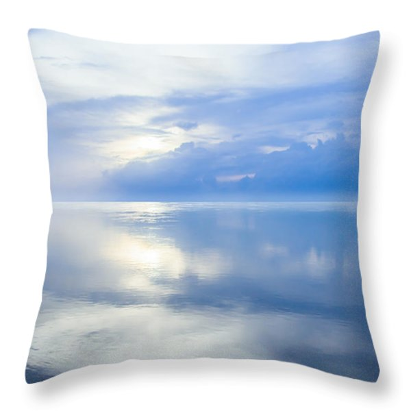 Merging Horizons Throw Pillow by Nila Newsom