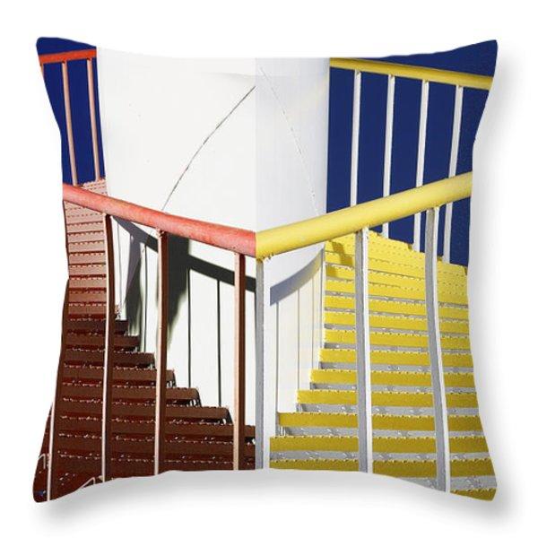 Merging Steps Throw Pillow by Robert Woodward