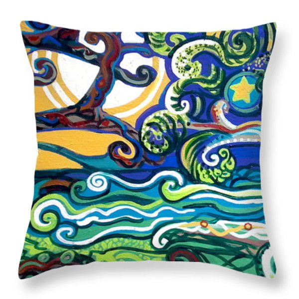 Merlin Tree HeArt-hur Throw Pillow by Genevieve Esson