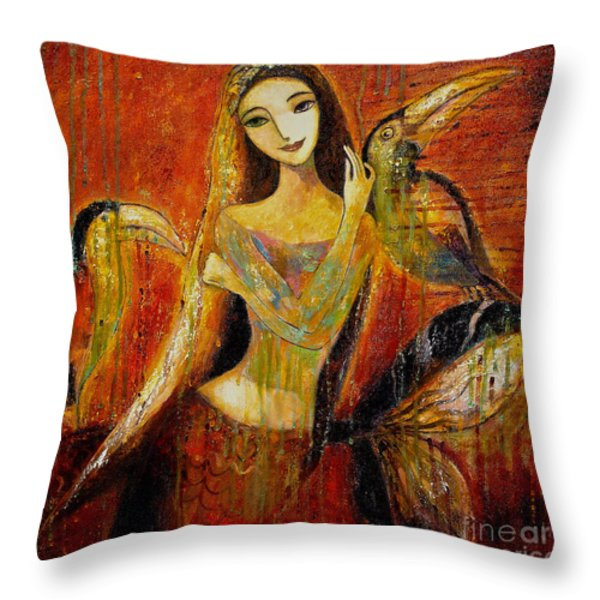 Mermaid Bride Throw Pillow by Shijun Munns