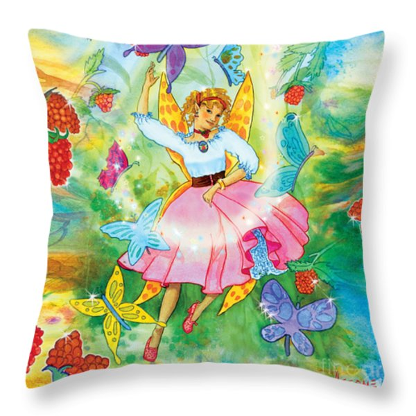 Merri Goldentree Dances Throw Pillow by Teresa Ascone