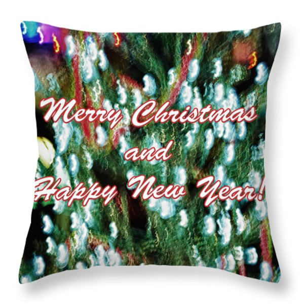 Merry Christmas 2 Throw Pillow by Skip Nall