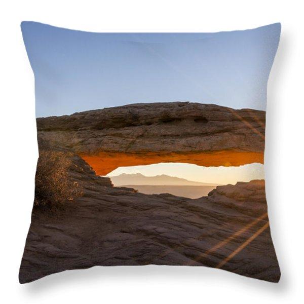 Mesa Arch Sunrise 7 - Canyonlands National Park - Moab Utah Throw Pillow by Brian Harig