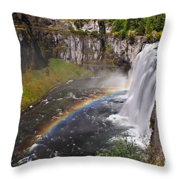 Mesa Falls Throw Pillow by Robert Bales