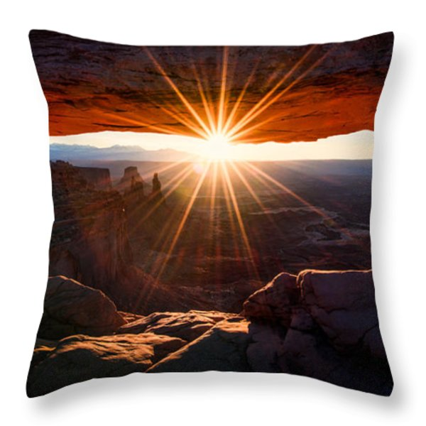 Mesa Glow Throw Pillow by Chad Dutson