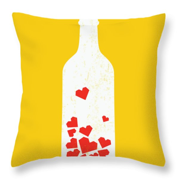 Message In A Bottle Throw Pillow by Budi Satria Kwan