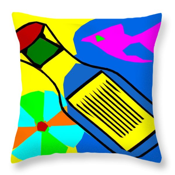 MESSAGE IN A BOTTLE Throw Pillow by Patrick J Murphy
