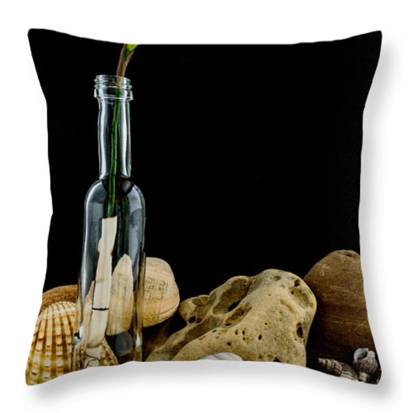 Message of Love II Throw Pillow by Marco Oliveira