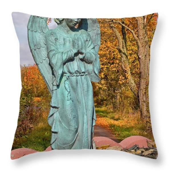 Messenger between two worlds Throw Pillow by Christine Till
