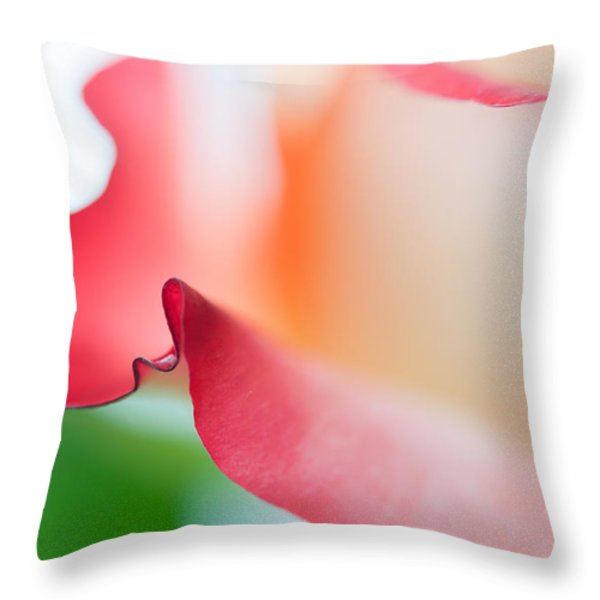 Messenger From Another Realm II. Ethereal Rose Throw Pillow by Jenny Rainbow