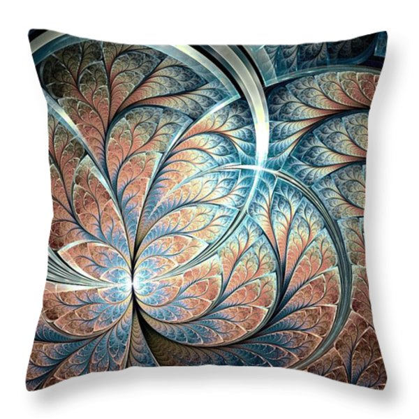 Metal Forest Throw Pillow by Anastasiya Malakhova