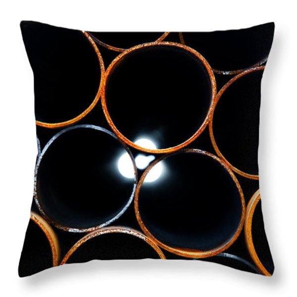 Metal pipes Throw Pillow by Fabrizio Troiani