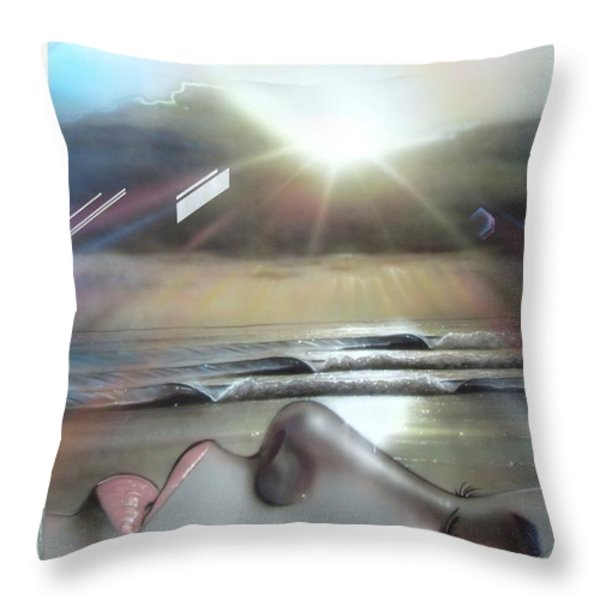 'metallic Visions' Throw Pillow by Christian Chapman Art