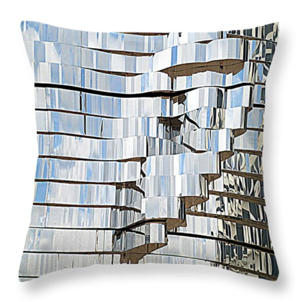 Metalmorphosis Ear Throw Pillow by Randall Weidner