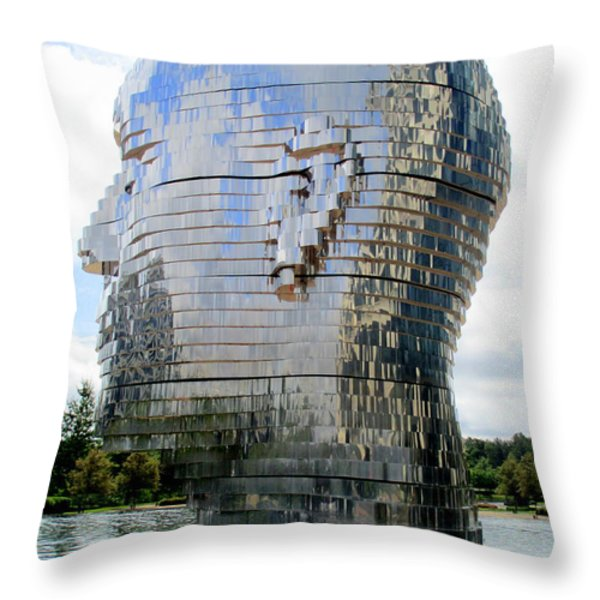Metalmorphosis Right Side Throw Pillow by Randall Weidner