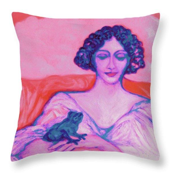 Metamorphosis 2 - ART DECO Throw Pillow by Gunter  Hortz
